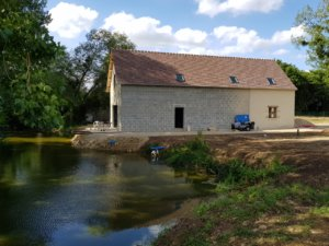 Travaux de rénovation d'une longère à Nouans (72)